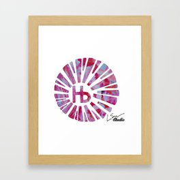 Hermosa Beach Rambla Sunburst Framed Art Print