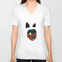 princess mononoke V-neck T-shirts featuring Mononoke by KoryDemers