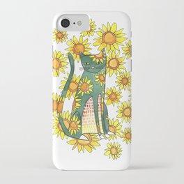 Sunflower Cat iPhone Case