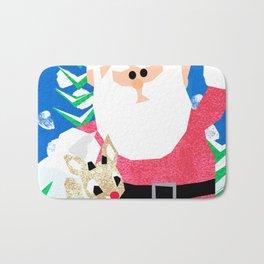 Santa and Rudolph Bath Mat