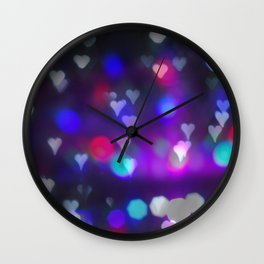 Christmas bokeh IV Wall Clock