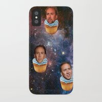 nicolas cage iPhone & iPod Cases featuring Cage Nebula by Jared Cady