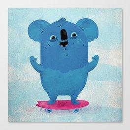 Kickflip Koala Canvas Print