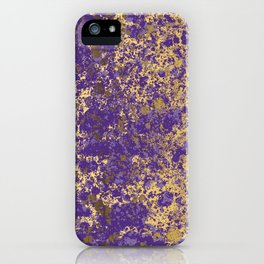 Purple and Gold Patina Design iPhone Case