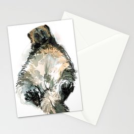 Sleepy Gulo gulo watercolor Stationery Cards