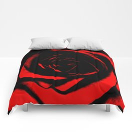 Bright Red Rose : Pretty Flowers Comforters