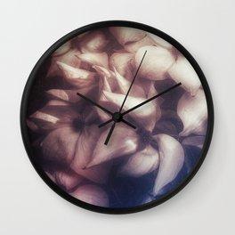 Ancient Flowers (Mauve) Wall Clock