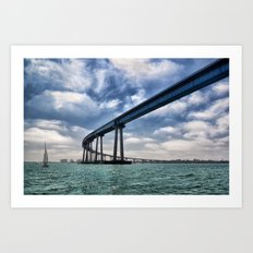 Coronado Bridge Art Print