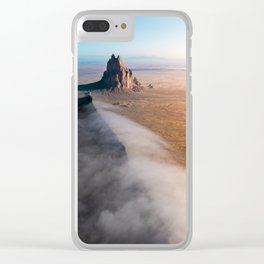 Shiprock volcanic formation in New Mexcio Clear iPhone Case