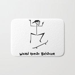 Weird Human Behavior - Skateboarding Bath Mat