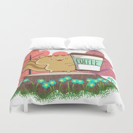 The Quest For A Perfect Cup Of Coffee Duvet Cover