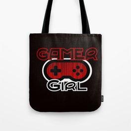 Red Gamer Girl Tote Bag