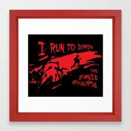 Running Zombie Framed Art Print