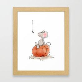 Little Mouse - Pumpkin  Framed Art Print