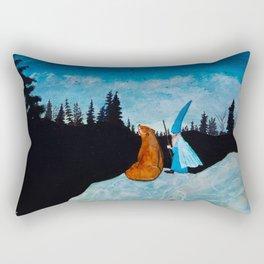 The Bear and the Wizard Rectangular Pillow