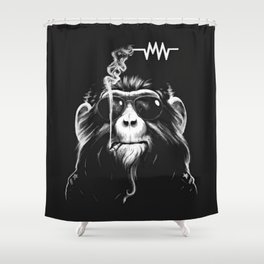 Music And Cigs Shower Curtain