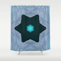 frozen Shower Curtains featuring Frozen by Deborah Janke