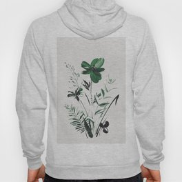 Green Flowers Hoody
