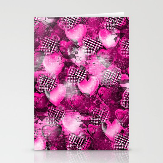 Light Bulb Hearts Series (pink) Stationery Cards