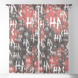 HQ: HA HA HA Sheer Curtain