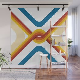 Retro Stripe Wall Mural