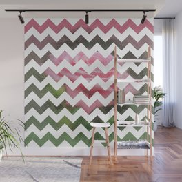 Pink Roses in Anzures 3 Chevron 3T Wall Mural