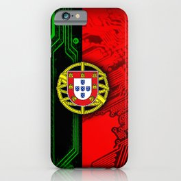 circuit board Portugal (Flag) iPhone Case