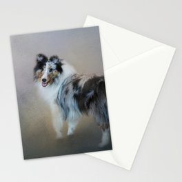 Did You Call Me - Blue Merle Shetland Sheepdog Stationery Cards