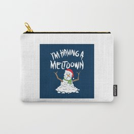 Funny Winter I'm Having A Meltdown - Funny Snowman Pun Gift Carry-All Pouch