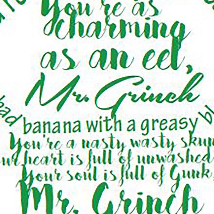 Mr.Grinch Typography Leggings