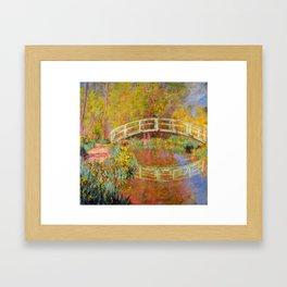 "Claude Monet ""The Japanese Bridge at Giverny"" Framed Art Print"