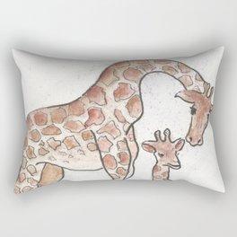 Giraffe and her Calf Rectangular Pillow
