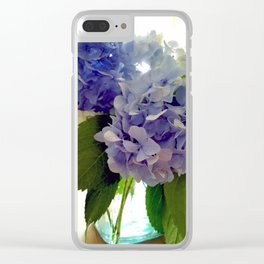 Hydrangea Bouquet Clear iPhone Case