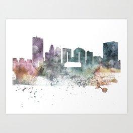 Toledo Nature Pastels Skyline Art Print