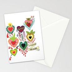 mi sangrado corazón♥ Stationery Cards