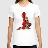 england T-shirts featuring ENGLAND by mark ashkenazi