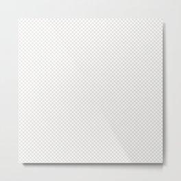Creamy Tofu and White Mini Check 2018 Color Trends Metal Print