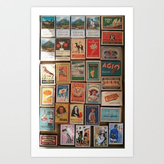 Marvelous Matchboxes Art Print