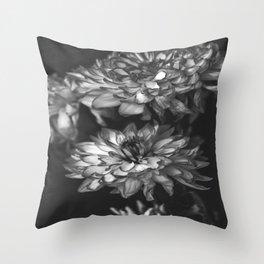 Monochrome Floral Throw Pillow