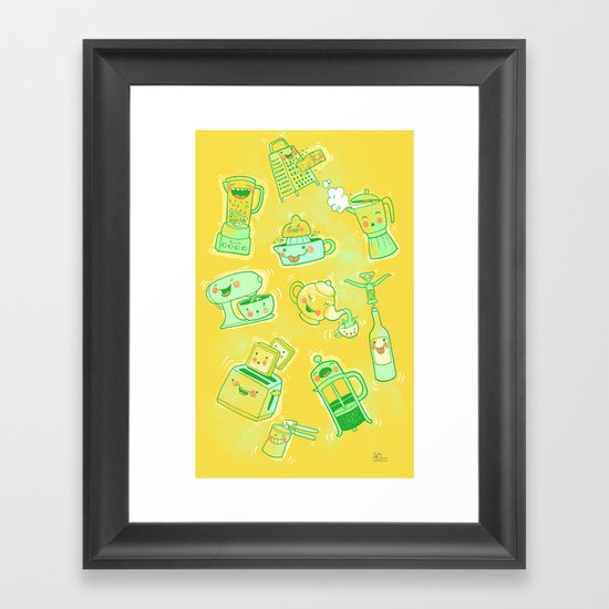 Dirty Kitchen Tools  Framed Art Print