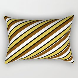 Team Colors...brown.gold,white and black Rectangular Pillow