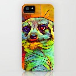 Animal ArtStudio -funky meerkat iPhone Case