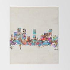 Denver Colorado skyline Throw Blanket