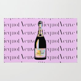 Veuve Clicquot Pop Art 2 - Pink Rainbow Rug