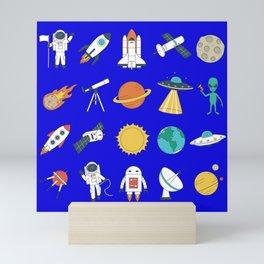 space astronaut Mini Art Print