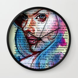 Bette Davis Eyes Wall Clock