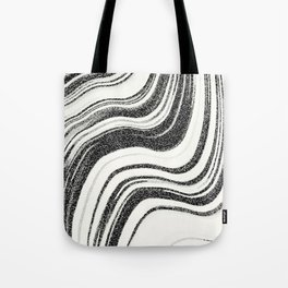 Textured Marble - Black & White Tote Bag