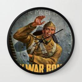 Vintage poster - Buy War Bonds Wall Clock