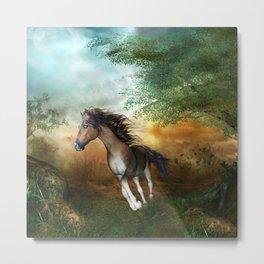 Beautiful brown horse Metal Print