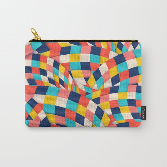 Curved Squares Carry-All Pouch